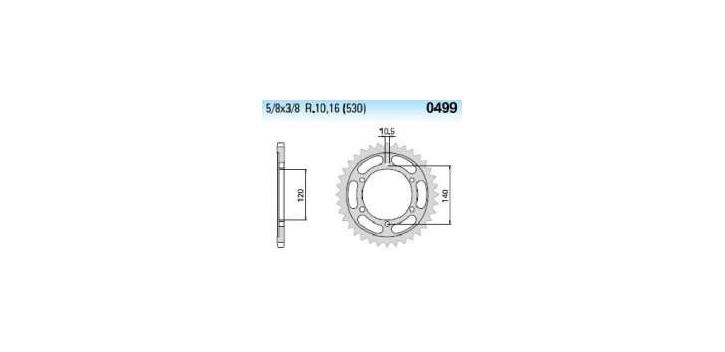 Chiaravalli - Carat rozeta 499-43 zubov THF (530-5-8x3-8)