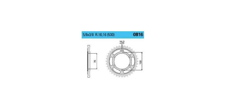 Chiaravalli - Carat rozeta 816-42 zubov THF (530-5-8x3-8)