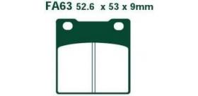 EBC brzdové platničky Standard FA63