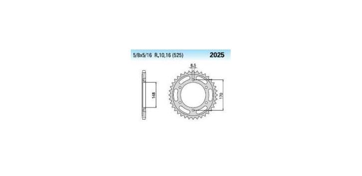 Chiaravalli - Carat rozeta 2025-47 zubov C (525-5-8x5-16)