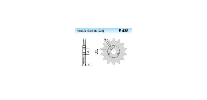 Chiaravalli - Carat sekundár 438-15 zubov K (520-5-8x1-4)