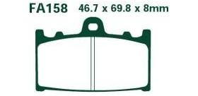 EBC brzdové platničky Standard FA158