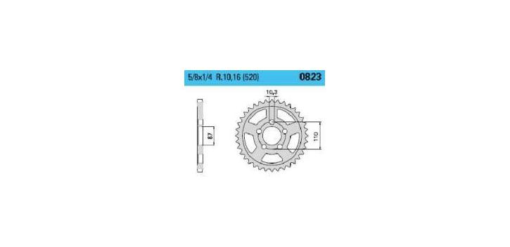 Chiaravalli - Carat rozeta 823-39 zubov C (520-5-8x1-4)