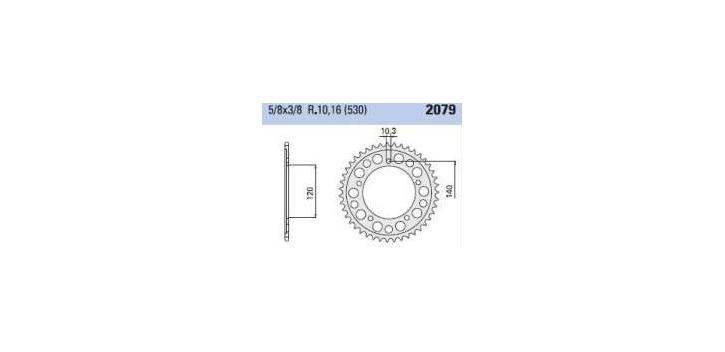 Chiaravalli - Carat rozeta 2079-41 zubov C (530-5-8x3-8)