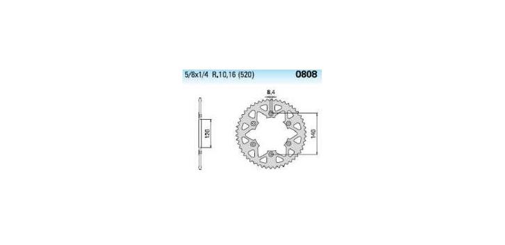 Chiaravalli - Carat rozeta 808-51 zubov EC (520-5-8x1-4)