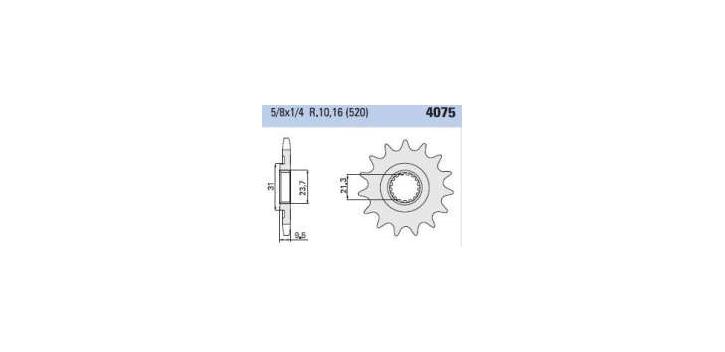 Chiaravalli - Carat sekundár 4075-15 zubov (520-5-8x1-4)