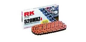 RK reťaz 520MXZ4 / článok - oranžová