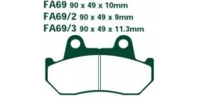 EBC brzdové platničky Standard FA69-3