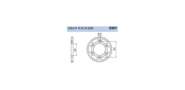 Chiaravalli - Carat rozeta 301-48 zubov C (520-5-8x1-4)