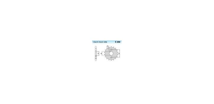 Chiaravalli - CaratCHI Ritzel 259-14 Zahne K (428-1-2x5-16)