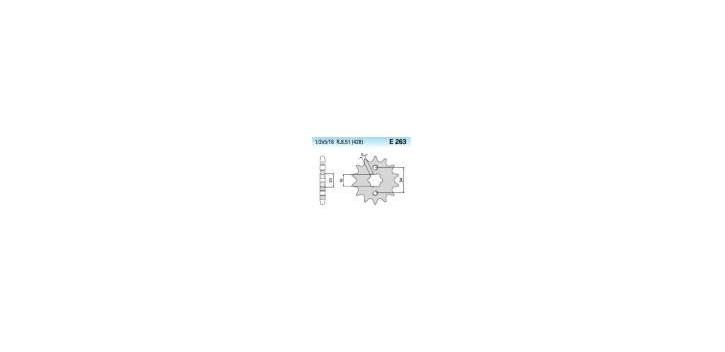 Chiaravalli - CaratCHI Ritzel 263-16 Zahne K (428-1-2x5-16)