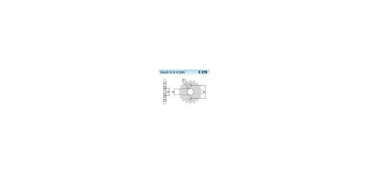 Chiaravalli - CaratCHI Ritzel 278-16 Zahne K (530-5-8x3-8)