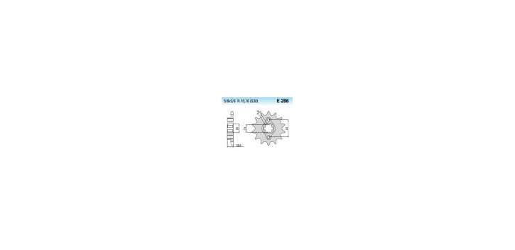 Chiaravalli - CaratCHI Ritzel 286-15 Zahne K (530-5-8x3-8)