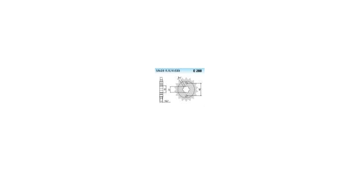 Chiaravalli - CaratCHI Ritzel 288-17 Zahne K (530-5-8x3-8)