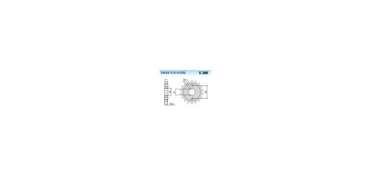 Chiaravalli - CaratCHI Ritzel 288-18 Zahne K (530-5-8x3-8)