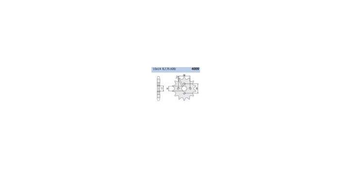 Chiaravalli - CaratCHI Ritzel 4009-16 Zahne (420-1-2x1-4)