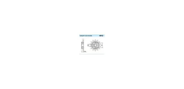 Chiaravalli - CaratCHI Ritzel 4012-15 Zahne K (530-5-8x3-8) Cagiva Elefant 93-97