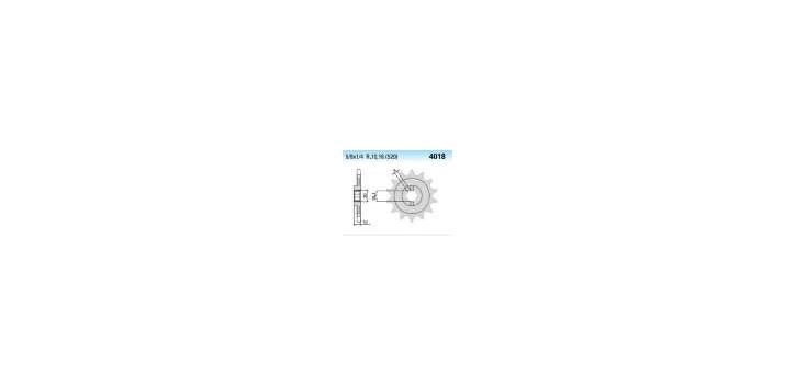 Chiaravalli - CaratCHI Ritzel 4018-12 Zahne K (520-5-8x1-4) - Auslaufartikel