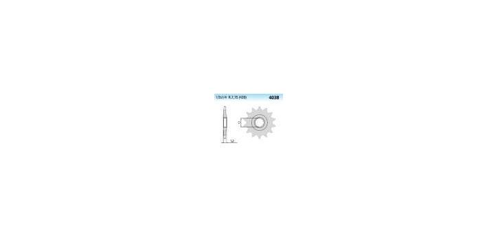 Chiaravalli - CaratCHI Ritzel 4038-13 Zahne (420-1-2x1-4)