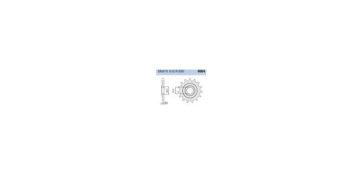 Chiaravalli - CaratCHI Ritzel 4064-17 Zahne K (525-5-8x5-16)