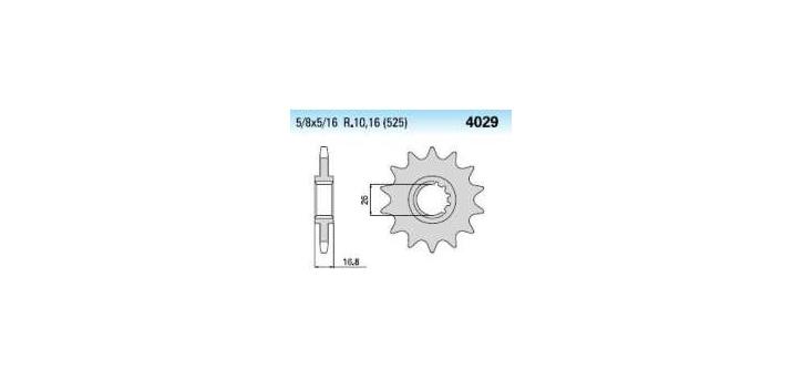 Chiaravalli - Carat sekundár 4029-16 zubov K (525-5-8x5-16)