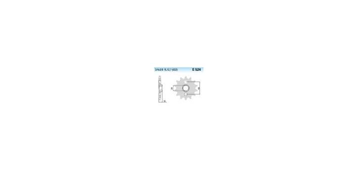 Chiaravalli - CaratCHI Ritzel 524-15 Zahne K (632-3-4x3-8) GPZ1000 86-89