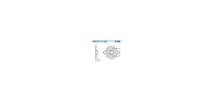 Chiaravalli - CaratCHI Ritzel 525-17 Zahne K (532-5-8x3-8) ZX1000 88-90