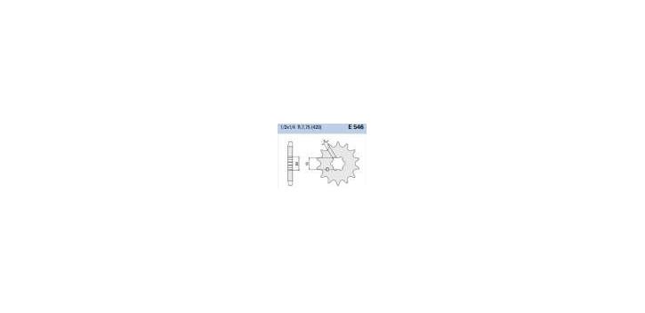 Chiaravalli - CaratCHI Ritzel 546-15 Zahne (420-1-2x1-4)