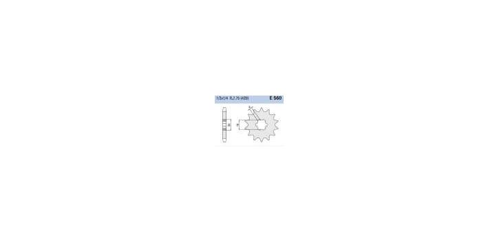 Chiaravalli - CaratCHI Ritzel 560-15 Zahne K (420-1-2x1-4)