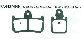EBC brzdové platničky Standard FA442-4