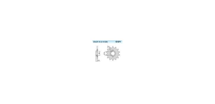 Chiaravalli - CaratCHI Ritzel 571-17 Zahne K (530-5-8x3-8)
