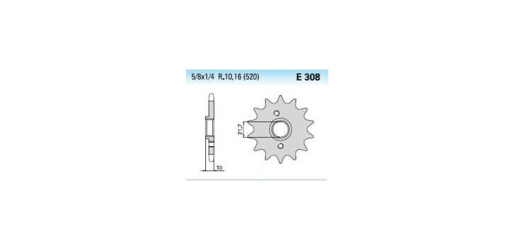 Chiaravalli - Carat sekundár 308-15 zubov K (520-5-8x1-4)
