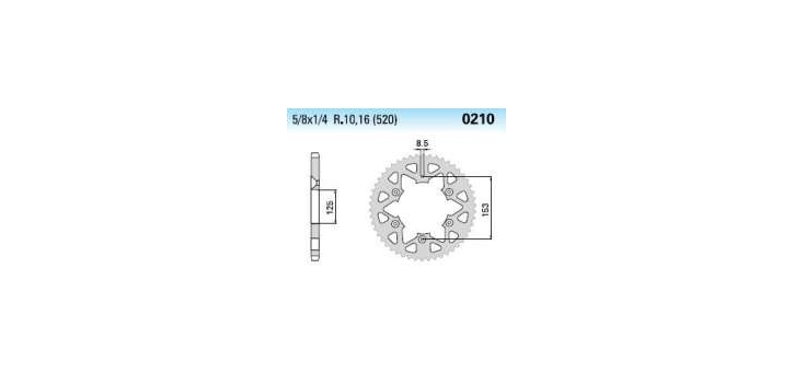Chiaravalli - Carat rozeta 210-49 zubov EC (520-5-8x1-4)