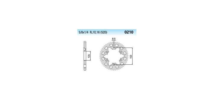 Chiaravalli - Carat rozeta 210-50 zubov EC (520-5-8x1-4)