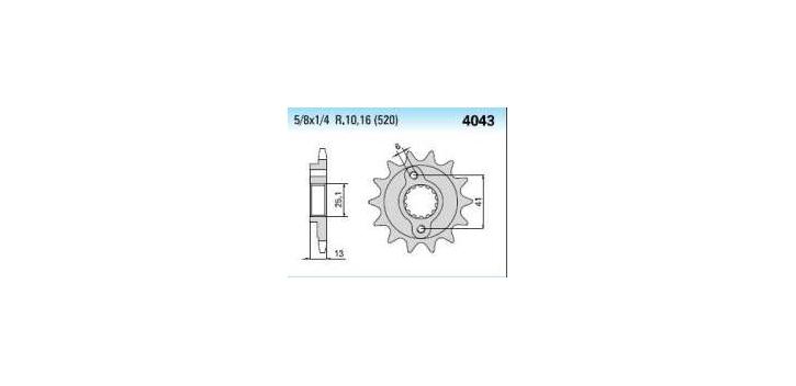 Chiaravalli - Carat sekundár 4043-13 zubov K (520-5-8x1-4)