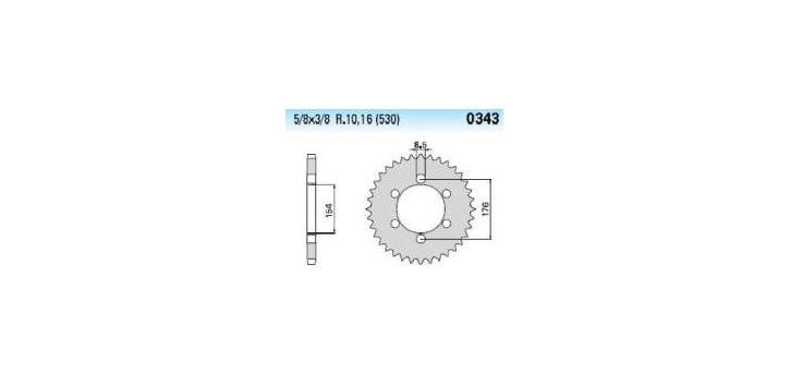 Chiaravalli - Carat rozeta 343-45 zubov C (530-5-8x3-8)