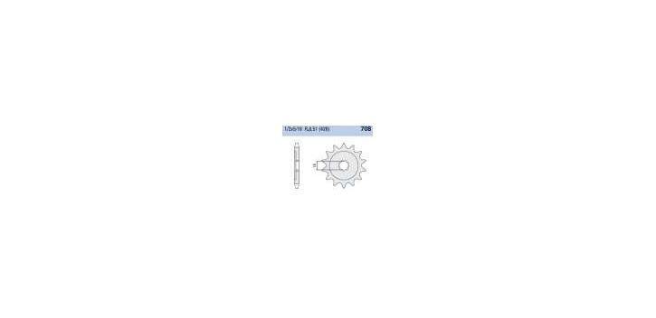 Chiaravalli - CaratCHI Ritzel 708-14 Zahne (428-1-2x5-16)