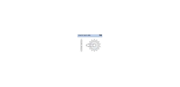 Chiaravalli - CaratCHI Ritzel 708-15 Zahne (428-1-2x5-16)