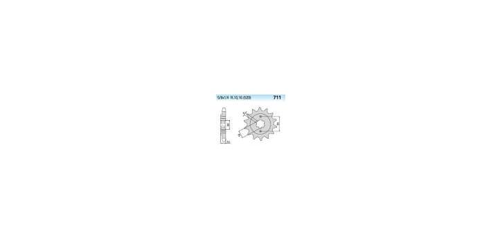Chiaravalli - CaratCHI Ritzel 711-12 Zahne K (520-5-8x1-4)