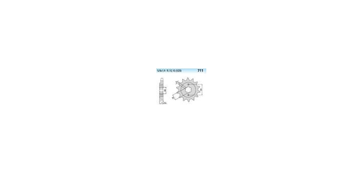 Chiaravalli - CaratCHI Ritzel 711-14 Zahne K (520-5-8x1-4)