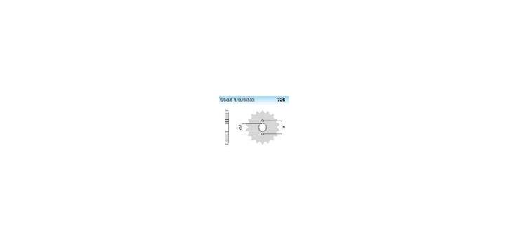 Chiaravalli - CaratCHI Ritzel 726-14 Zahne K (530-5-8x3-8)