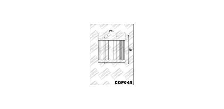 Champion olejový filter COF045 (X302 / Mann MH 67)
