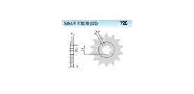 Chiaravalli - CaratCHI Ritzel 728-16 Zahne K (520-5-8x1-4)