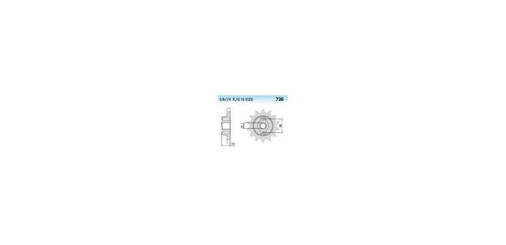 Chiaravalli - CaratCHI Ritzel 736-14 Zahne K (520-5-8x1-4)