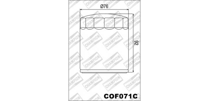 Champion olejový filter COF071C - chrom