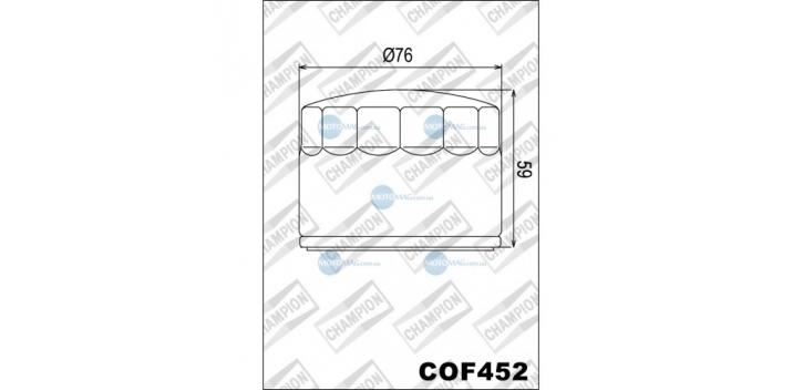 Champion olejový filter H302
