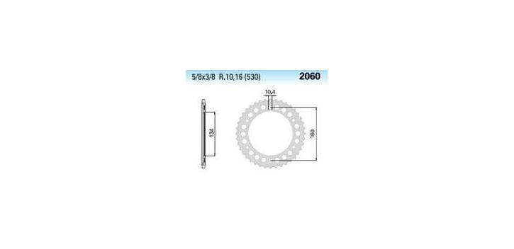 Chiaravalli - Carat rozeta 2060-44 zubov THF (530-5-8x3-8)