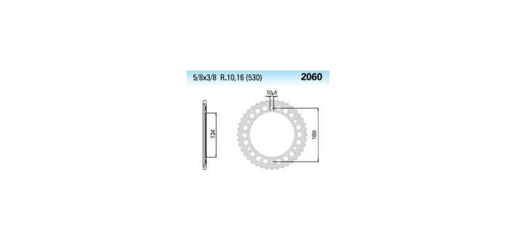 Chiaravalli - Carat rozeta 2060-40 zubov THF (530-5-8x3-8)