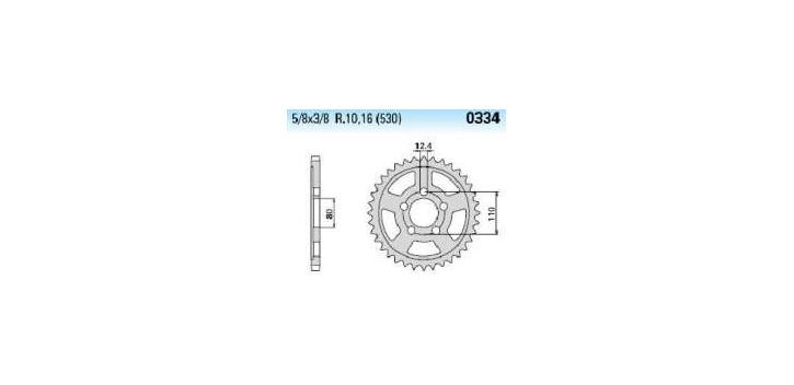 Chiaravalli - Carat rozeta 334-45 zubov THF (530-5-8x3-8)