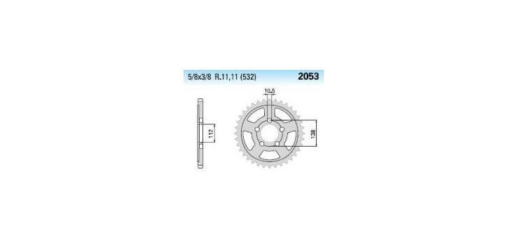 Chiaravalli - Carat Racing rozeta 2053-47 zubov EMD (520-5-8x1-4)